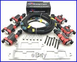 Toyota Supra LQ9 Ignition Coils Conversion Bracket Wire Harness Kit 2JZ 2JZGTE