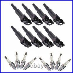 UF592 Ignition Coil Pack +8 NGK Plugs Spark Plug Kit for BMW 2004-2006 x5 4.4i