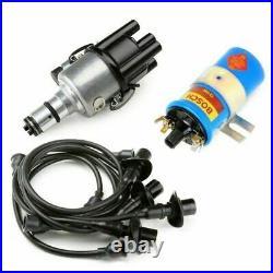 Vw Bug Ignition Kit 009 Distributor, 12V Bosch Blue Coil, Black Wires