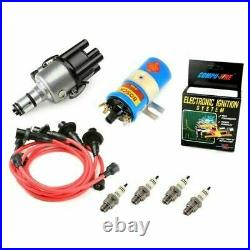 Vw Bug Ignition Kit 009 Distributor WithCompufire, 12V Bosch Blue Coil, Red Wires