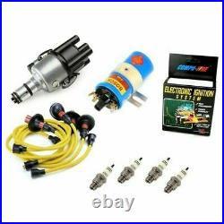 Vw Bug Ignition Kit 009 Distributor WithCompufire, 12V Bosch Blue Coil, Yellow Wires