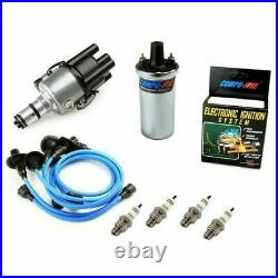 Vw Bug Ignition Kit 009 Distributor WithCompufire, 12V Compufire Coil, Blue Wires